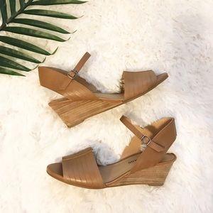 Lucky Brand | Jimbia Cognac Sandal Wedge 7